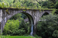 Kochi Prefecture Shimanto-cho, Shimotsui glasses Bridge Stock photo [4548659] Japan