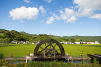 Kochi Prefecture Shimanto four Kemura groove of the water wheel Stock photo [4548706] Japan