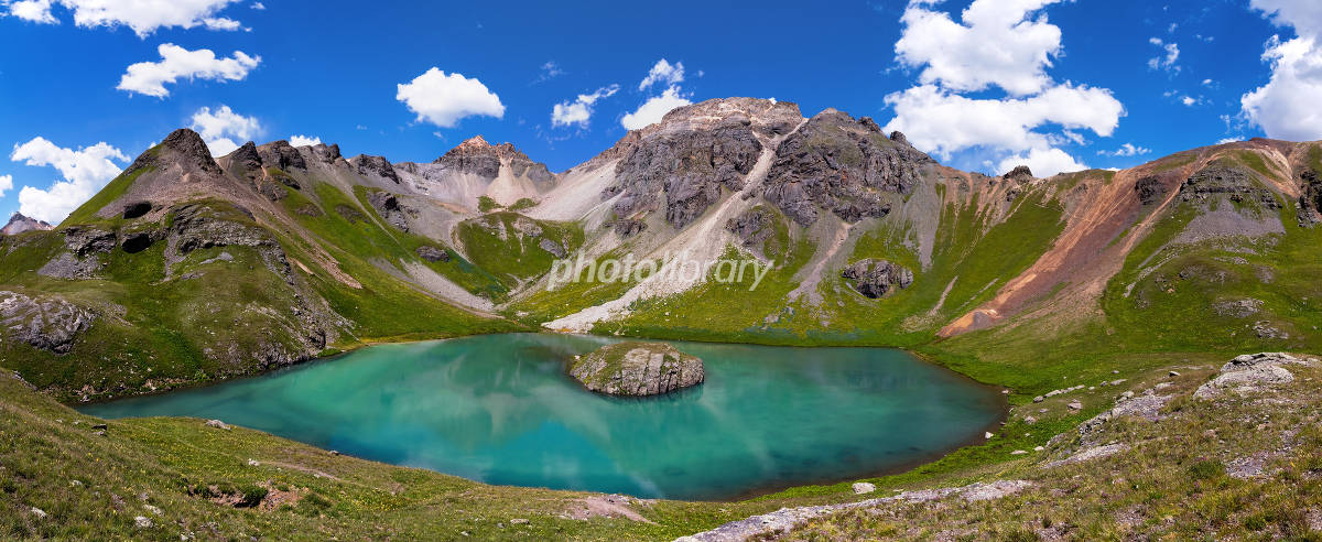 コロラド州 ロッキー山脈 氷河湖の写真
