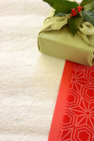 Real red and white background of wrapping cloth wrapped and Senryo Stock photo [4687128] Wrapping