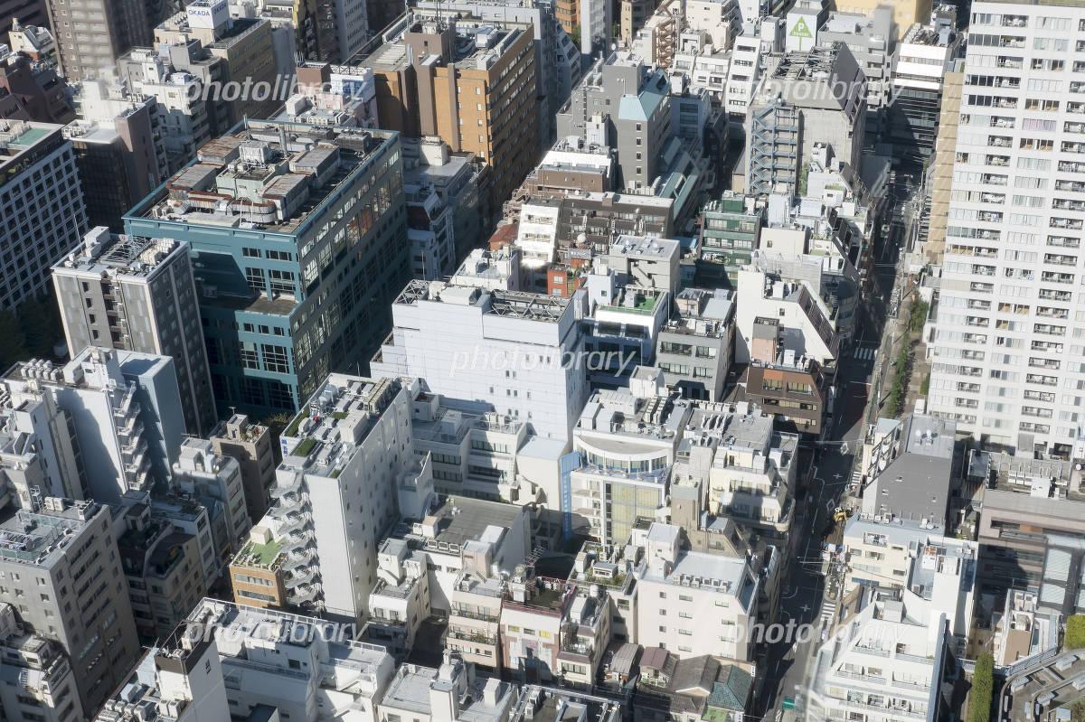東京都心の街並 クローズアップ 港区 浜松町 密集する雑居ビル