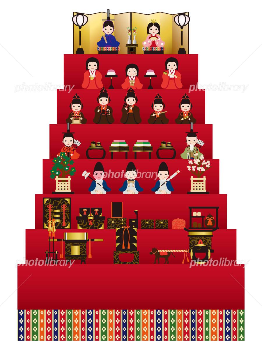 雛人形 七段飾り イラスト素材 4831344 フォトライブラリー