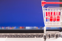 Shopping cart and laptop Stock photo [4832317] shopping