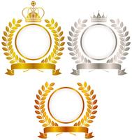 Gold silver copper crown emblem [4832619] Medal