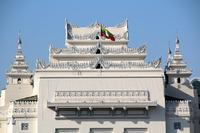 ミャンマーのヤンゴンの市庁舎