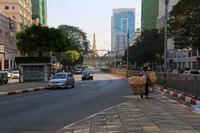 ミャンマーのヤンゴンのダウンタウン
