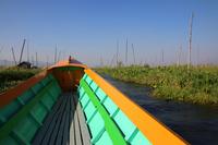 ミャンマーのインレー湖の畑