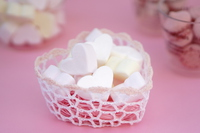 Heart of marshmallow Stock photo [4943134] White