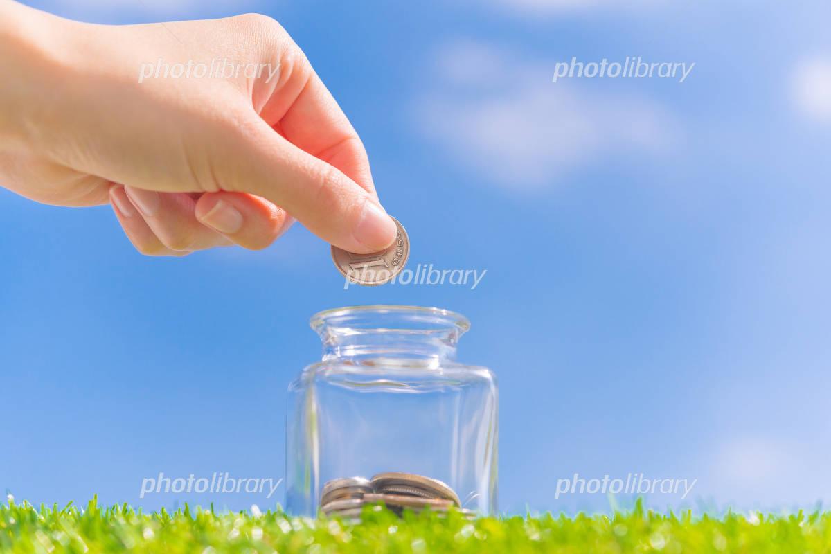Blue sky and saving money Photo