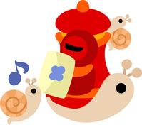 Cute snail illustration [5033914] An