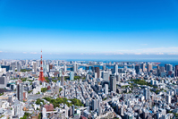 Tokyo landscape of the blue sky Stock photo [5040832] Urban