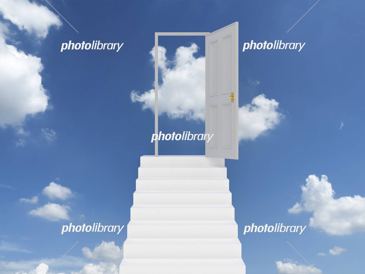 青空と扉 イラスト素材 5128260 フォトライブラリー Photolibrary