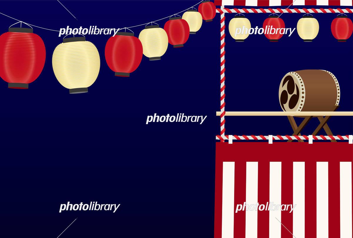 祭り 背景素材(はがきサイズ) イラスト素材 [ 5132162 ] - フォト