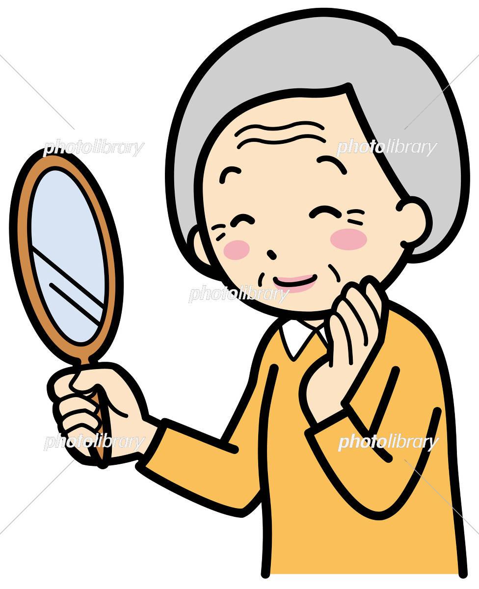 化粧療法 鏡を見る イラスト素材 5133633 フォトライブラリー