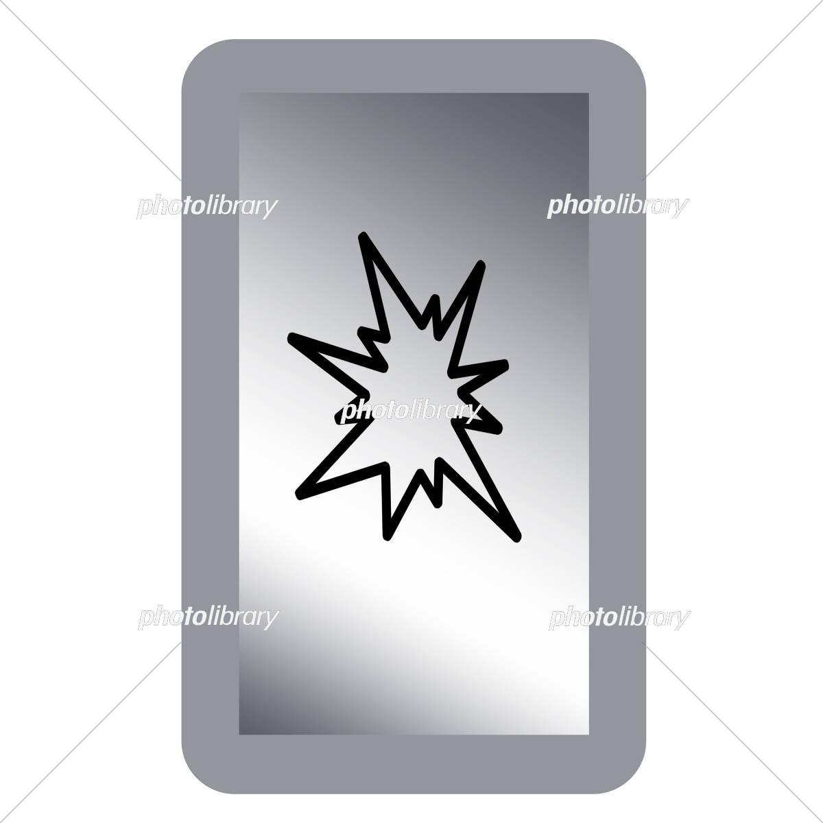 割れたスマホの画面 イラスト素材 5135123 フォトライブラリー