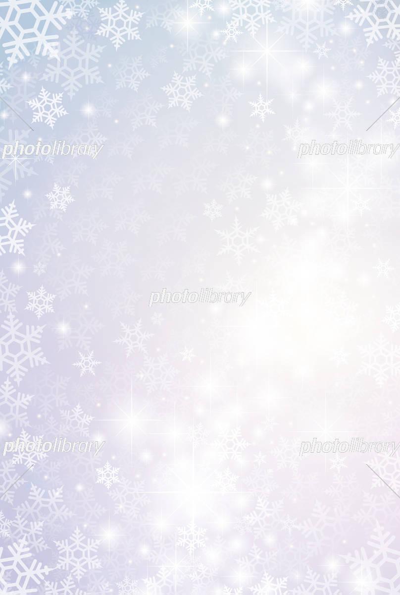 雪 結晶 背景 素材 イラスト素材 [ 5135949 ] - フォトライブラリー