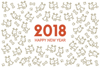 New Year's card illustration in the year 2018 [5127677] Age