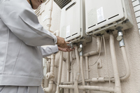 Remove workers hot water heater Construction