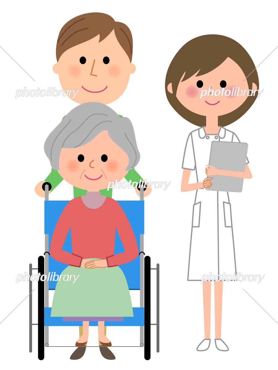 看護師 車椅子の患者 イラスト素材 5316670 フォトライブラリー
