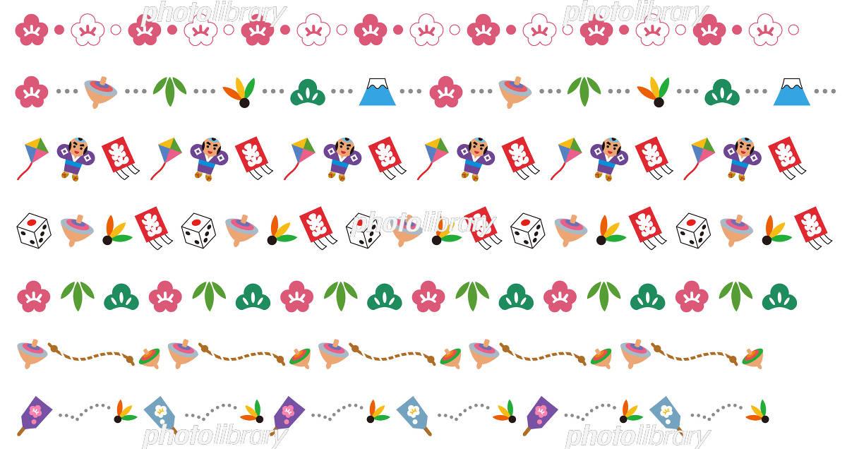 正月の飾り線 イラスト素材 5318745 フォトライブラリー