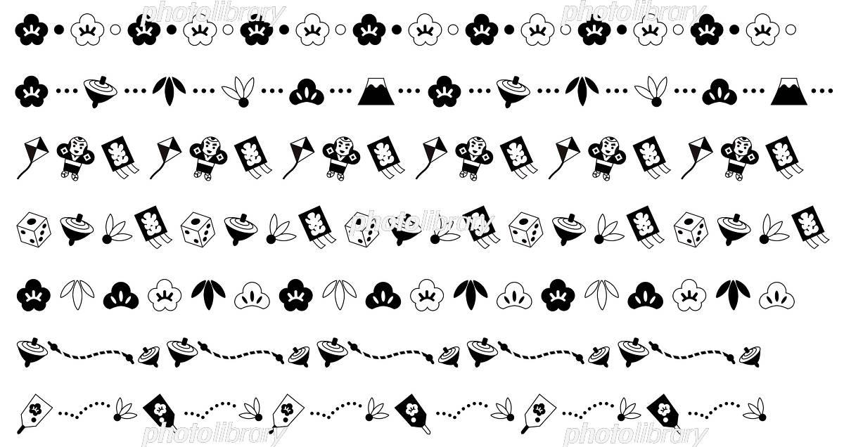 正月の飾り線 イラスト素材 5318745 フォトライブラリー Photolibrary
