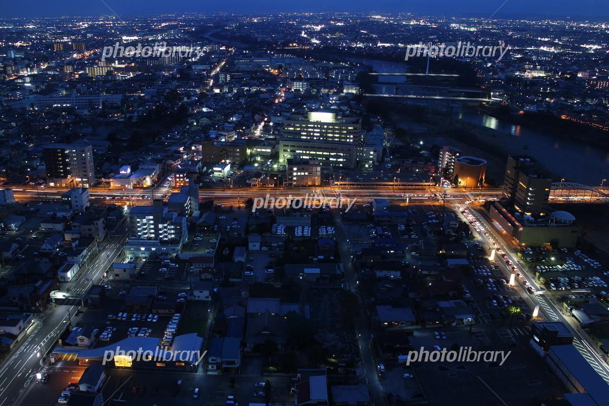 東国文化歴史街道 夜景 写真素材...