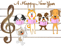 Dog concert of New Year's card material of 2018 [5315565] dog