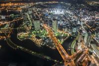 Night view of Yokohama central city area  Photo