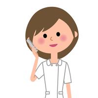 Nurse Phone  Illust