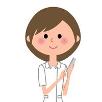 Nurse smartphone  Illust