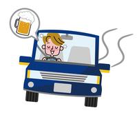 Drunk driving men  Illust