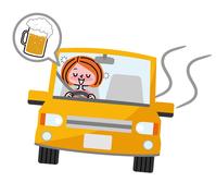 Drunk driving woman  Illust
