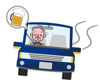 Drunk driving Elderly  Illust