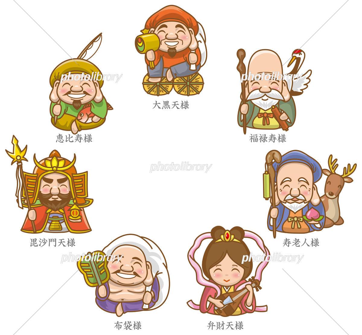七福神のイメージイラスト イラスト素材 5758075 フォトライブ