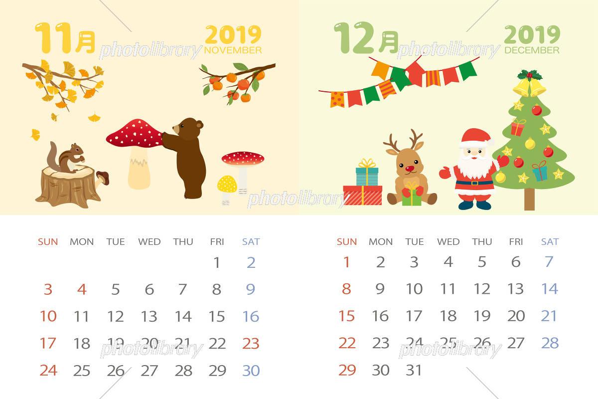 2019 カレンダー 12 月