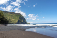Waipio Valley Beach Big Island Hawaii ワイピオ渓谷
