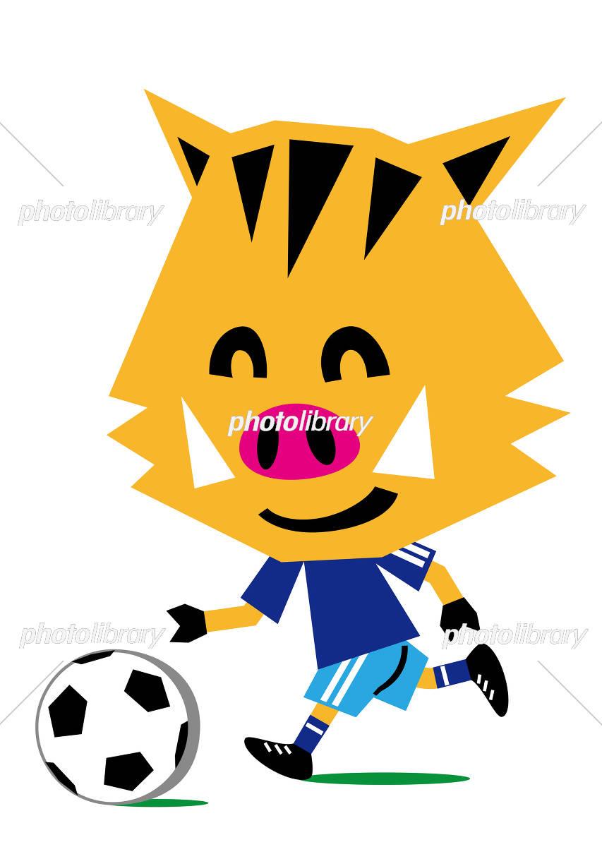 サッカーを楽しむ亥 イラスト素材 5786938 フォトライブラリー