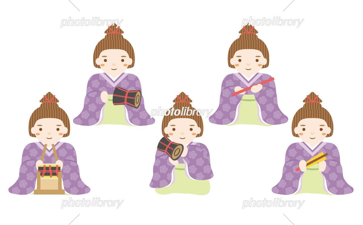 雛人形 五人囃子 イラスト素材 5852711 フォトライブラリー