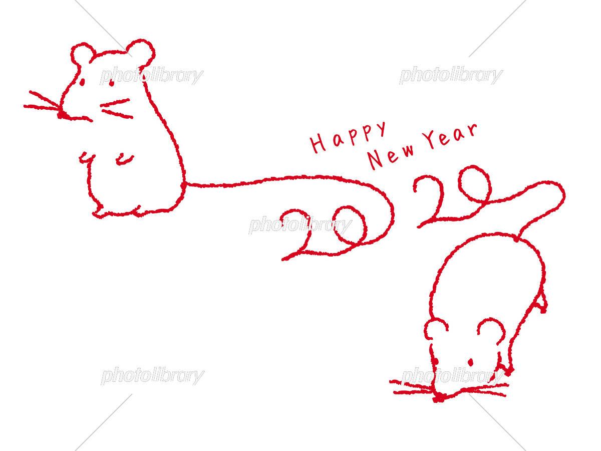 年 子年年賀状 ネズミの刺繍 イラスト素材 フォトライブラリー Photolibrary