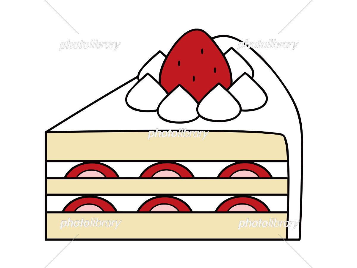 イチゴのショートケーキ イラスト素材 5883454 フォトライブラリー