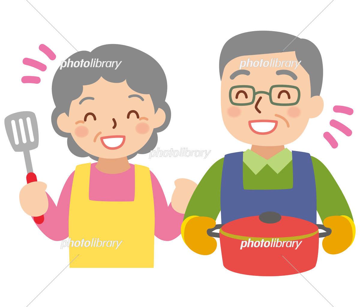 料理する年配の男女 イラスト素材 5918517 フォトライブラリー