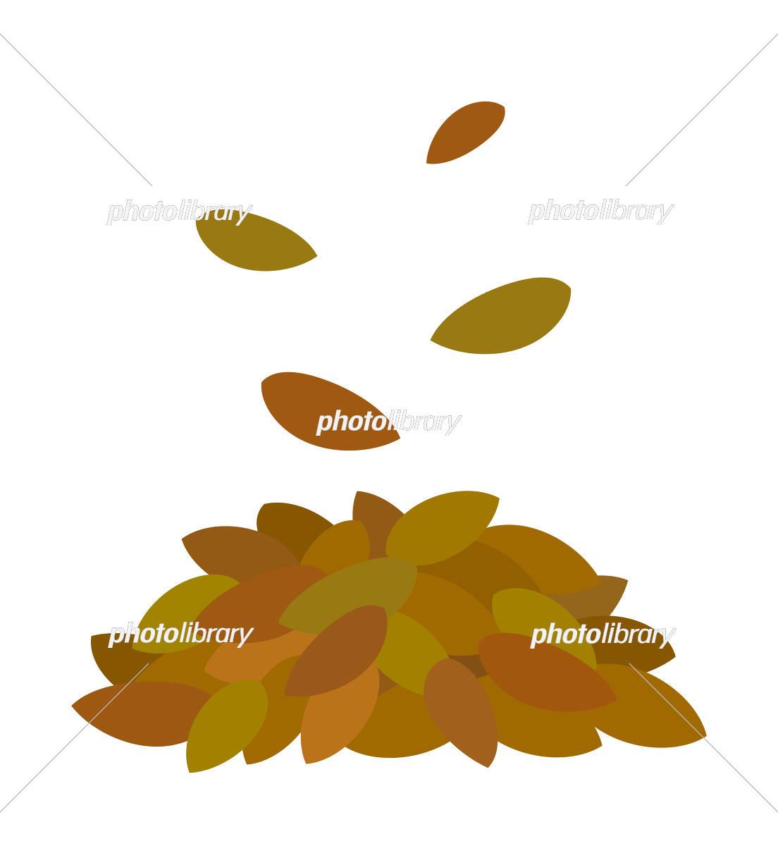 枯れ葉の山 イラスト素材 5920082 フォトライブラリー Photolibrary