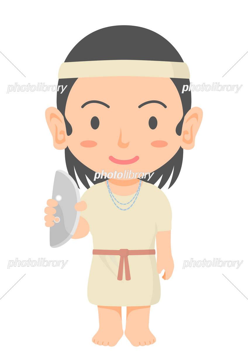 弥生時代の女性 石包丁 イラスト素材 5921017 フォトライブラリー