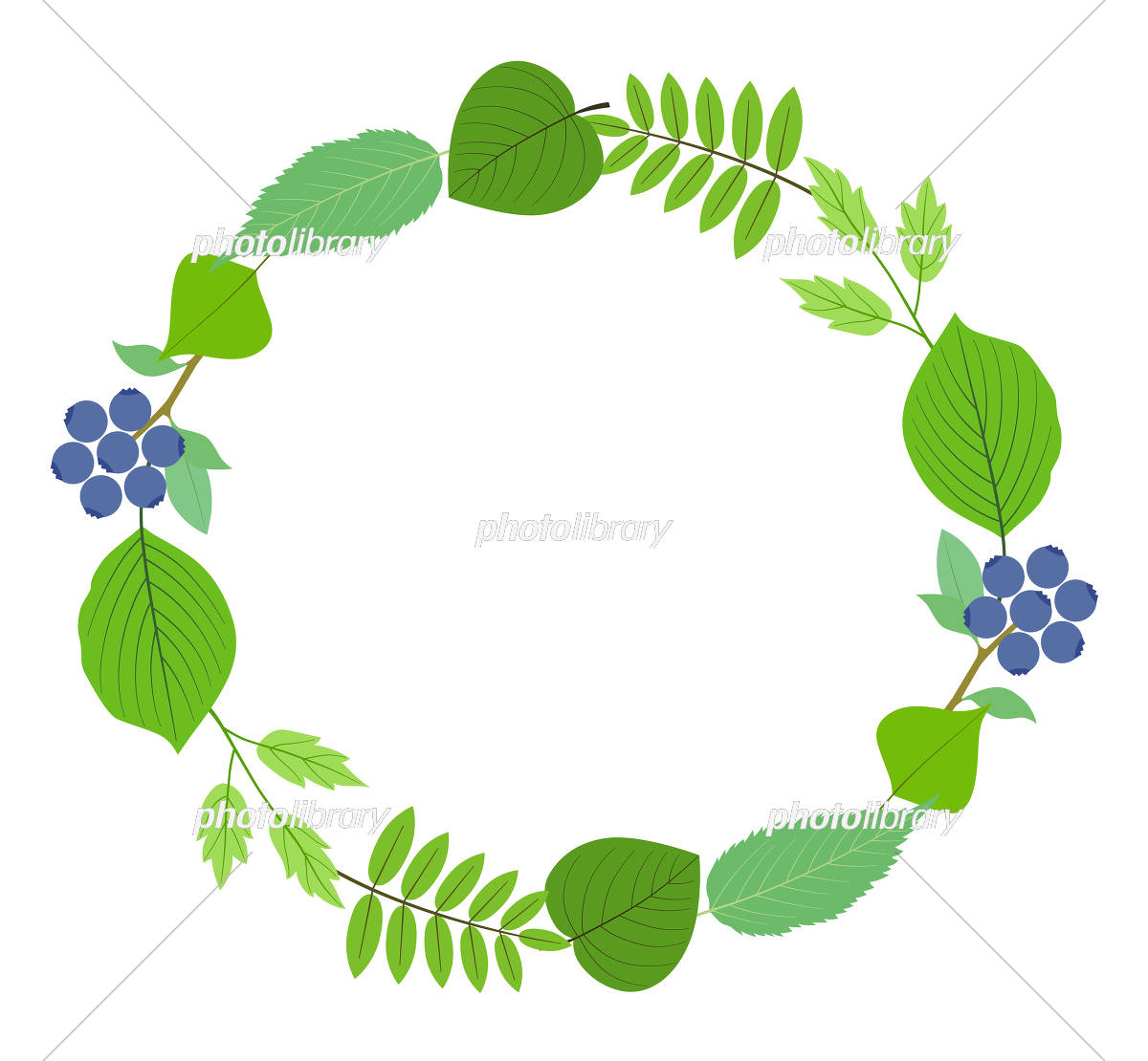 葉の装飾リース イラスト素材 5923271 フォトライブラリー