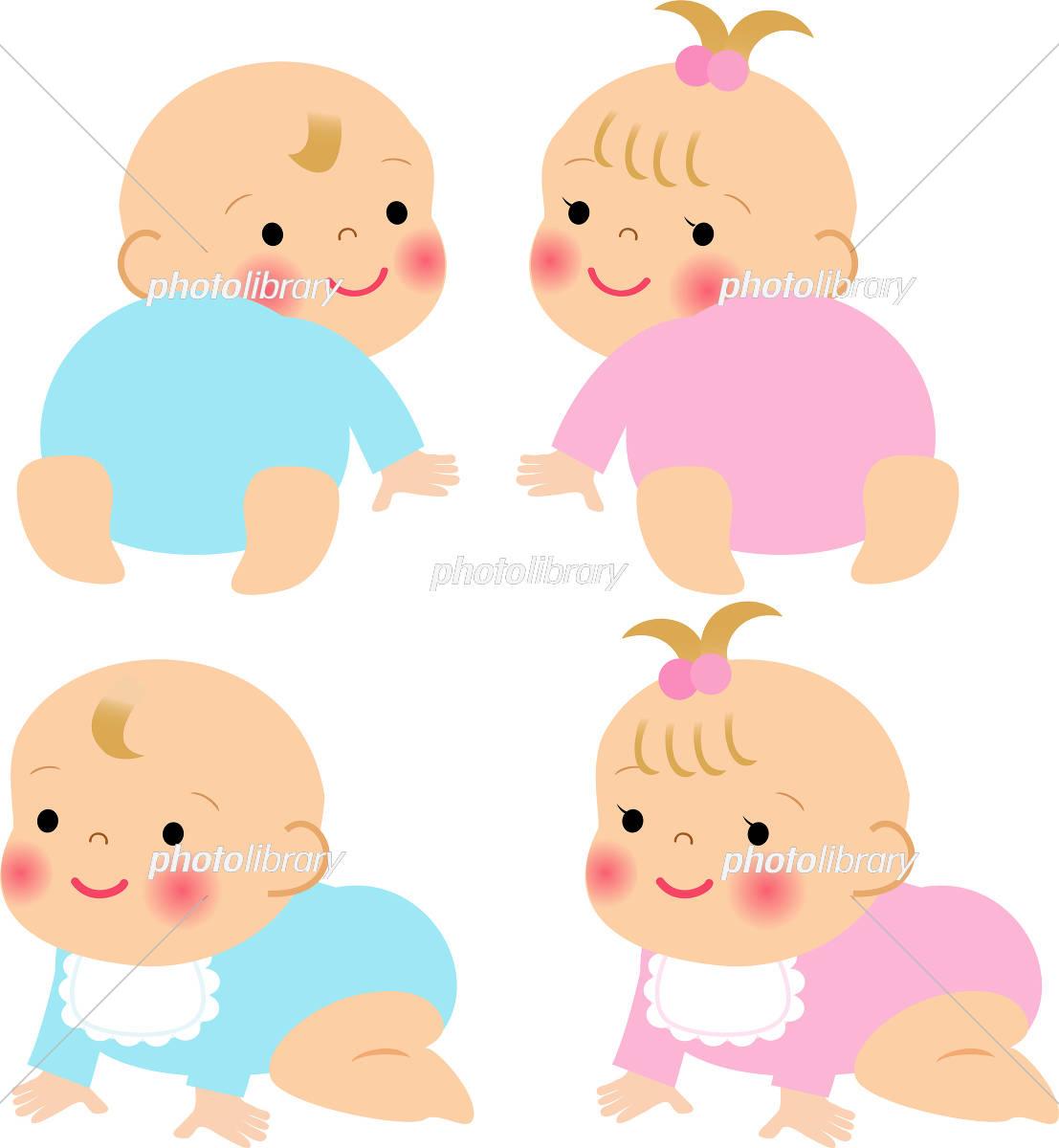 はいはいする赤ちゃん イラスト素材 5947186 フォトライブラリー