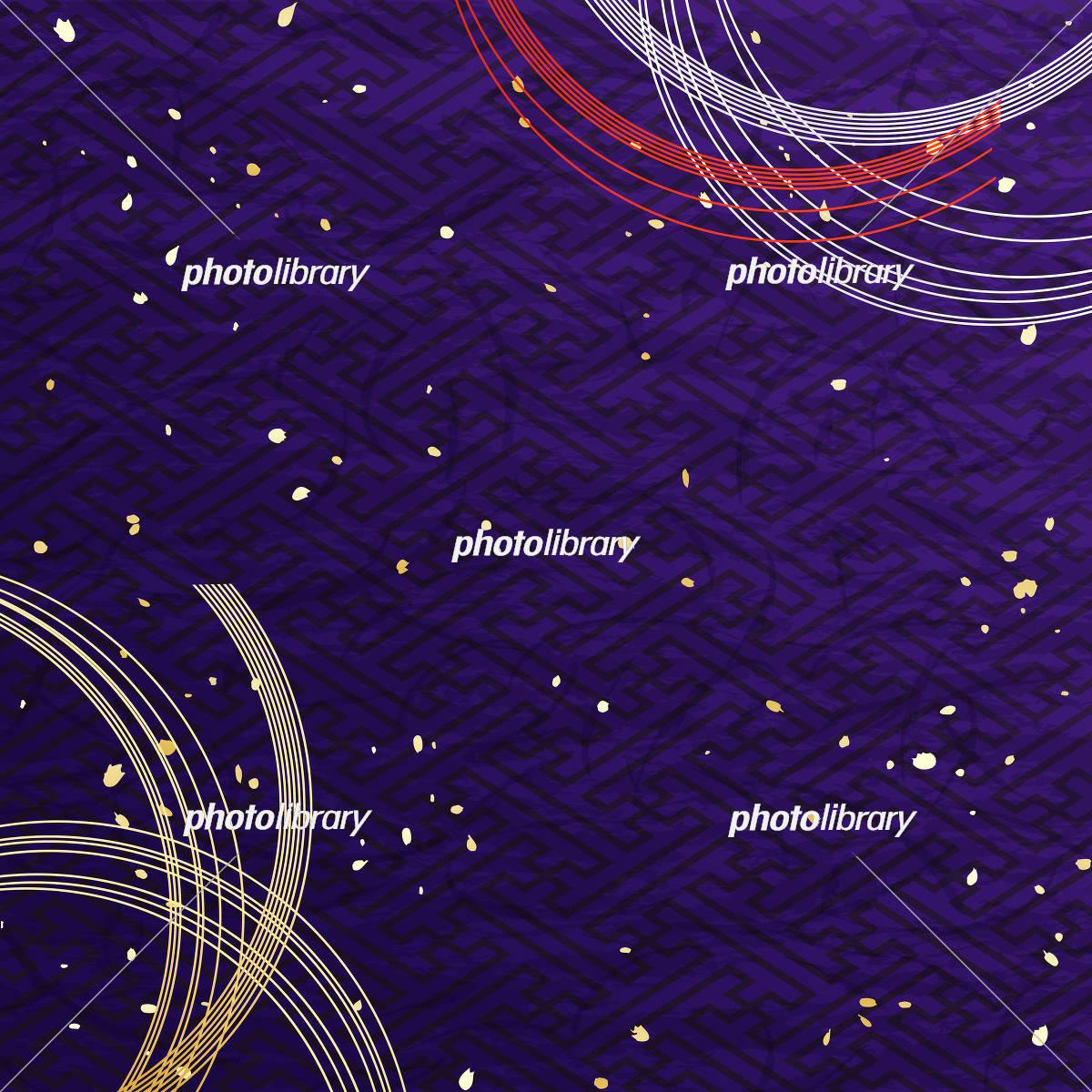 紫色の和風背景 水引 イラスト素材 6102912 フォトライブラリー Photolibrary