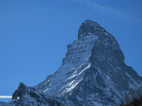 Up of the Matterhorn seen from Zermatt Stock photo [329338] Switzerland