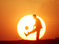 Boy and sunsets Stock photo [334133] Juvenile