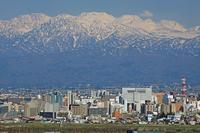 Toyama city and Tateyama Stock photo [815855] Toyama
