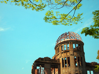 Bomb Dome and blue sky Stock photo [821083] Atomic